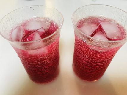 赤しそジュース作り